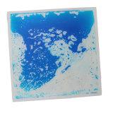 Mattonelle liquide blu per la decorazione del pavimento