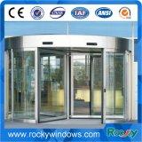Вращающаяся дверь новой конструкции стеклянное для стационара торгового центра авиапорта гостиницы