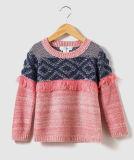 Cavalier tricoté par texture du chandail du gosse pour des filles