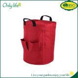 Onlylife BSCI再使用可能なオックスフォードの園芸工具袋の無駄袋
