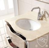 Fregadero oval de cerámica de Cupc Undermount de la venta caliente al por mayor (SN007)