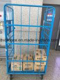 Étagère d'entrepôt pliable, cage de stockage, palette à rouleaux, chariot logistique