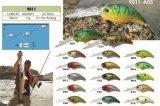 Premier attrait de pêche de natation d'amorce de manivelle de qualité de pente