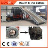Desecho/basura/desfibradora usada del neumático que recicla la máquina con la cadena de producción de goma del polvo