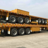 Semitrailer do recipiente do eixo da base lisa 3 de 40FT