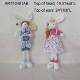 Regalo diritto Pasqua della decorazione del coniglietto della ragazza e del ragazzo