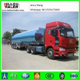 Tri reboque de alumínio do petroleiro do combustível de petróleo Diesel do eixo 45000L