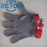 Le boucher Anti-A coupé le gant de maille en métal de sécurité