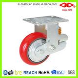吸収する衝撃のための赤いPUの足車(P790-46F150X50)