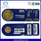 La tarjeta combinada cortada con tintas plástico del PVC, se encaja a presión de PVC Keytag