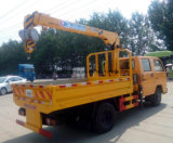 6 roues Jmc 2 tonnes de double de cabine camion de grue ont monté avec la grue de XCMG