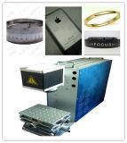 Машина для логоса, случай маркировки лазера металла волокна металла Apple iPhone, Я-Пусковая площадка, кольца