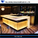 150 Kinds Night LED Light Fancy Design Bar Curved Half Round Restaurante Caixa Secretária
