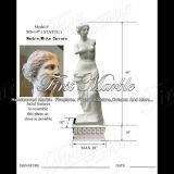 Het witte Standbeeld van Carrara voor Decoratie Mej.-147 van het Huis