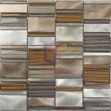 Brillant Aluminium Mix Vague Verre Cristal Métal carreaux de mosaïque (CFA61)