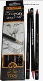 Crayon d'HB de qualité avec du bois tendre