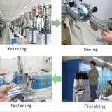 Произведенный хлопок самой лучшей лодыжки OEM высокий градуированный ягнится носки