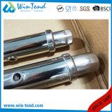 Le tube rond industriel d'entrepôt robuste de construction d'acier inoxydable facile assemblent 4 crémaillères de mémoire de rangée
