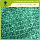 Изготовление плетения ветрила тени сада сети тени Sun HDPE зеленого цвета 80%