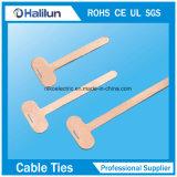 Placa superior de la etiqueta de plástico del cable del acero inoxidable con la señal