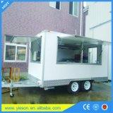 Restaurante elétrico móvel dos confeitos do projeto do carro do alimento da frigideira