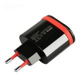 Sumsungのためのラインを持つEU/Us二重USBの携帯電話の充電器