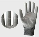 PU beschichteter Schnitt-beständiger Arbeits-Handschuh mit 13G Hppe Zwischenlage