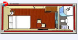 De Zaal van de Verschepende Container van de Luxe van het ontwerp