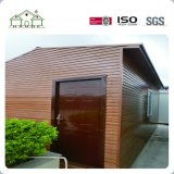 PVC 나무로 되는 벽 널 및 나무로 되는 문 조립식 콘테이너 집을%s 가진 좋은 디자인