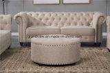 Sofà di lusso del tessuto dell'oggetto d'antiquariato del sofà di disegno popolare americano del salone con il prezzo di Wholsale