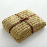 Couverture tricotée par fibres molles d'Acrtlic