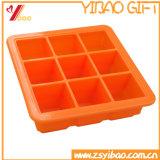 Molde de /Ice de la bandeja del cubo de hielo del silicón de la célula de LFGB 9, molde de la torta del silicón
