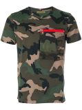 T-shirt da cópia camuflar dos homens
