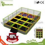 Sosta commerciale dell'interno del trampolino della costruzione di corpo e di forma fisica con il pozzo della gomma piuma