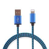 El cable aislado nilón del USB del relámpago para el iPhone, iPad, iPod, Samsung telefona