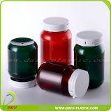Bouteille empaquetant la bouteille en plastique de médecine de l'animal familier 200ml avec le chapeau de dessus de chiquenaude