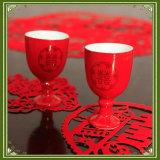 Lámina para gofrar caliente del enchufe de fábrica para la taza del plástico de la bebida de la boda