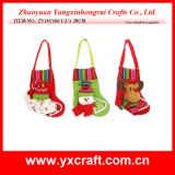 Cadeau épatant de promotion de tissu de Noël d'arbre d'étoile de Noël de la décoration de Noël (ZY11S216)