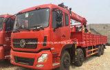4 차축 Dongfeng 8X4 기중기 선적 트럭은 기중기로 거치했다