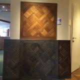 Étage carbonisé de configuration en bois de chêne (étages de mosaïque en bois)/plancher boisé machiné de configuration (plancher de parquet)