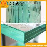 Painel de vidro laminado Tempered liso/curvado ao ar livre do balcão de Frameless