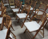 Cadeira dobrável de bambu