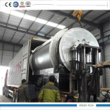 Eine 5 Tonnen-Pyrolyse-Reifen-Maschine versendete durch Behälter 40hq
