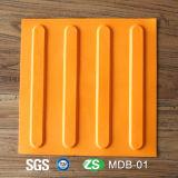 Azulejos de borrachas de advertência TPU / PVC para táctil