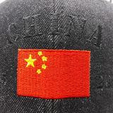Огорченная вышивка 3D джинсовой ткани изготовленный на заказ для бейсбольной кепки (GD001-C)