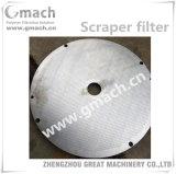 Disque de filtre, plaque de filtre en acier de Staniless de plaque de filtre, filtre pour le polymère