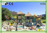 Do campo de jogos ao ar livre plástico popular das crianças da segurança série 2016 antiga do tribo
