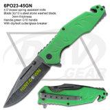 """2016 G10 auxiliar del verde del nuevo resorte del cuchillo 4.5 el """" maneja el cuchillo Pocket: 6po23-45gn"""