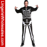 Druck-Karosserien-Klage-Fantasie Cosplay Kostüm der Männer Skeleton für Halloween-Partei