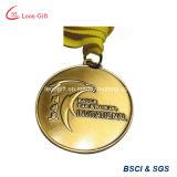Laiton fait sur commande d'antiquité de médaille de sport plaqué